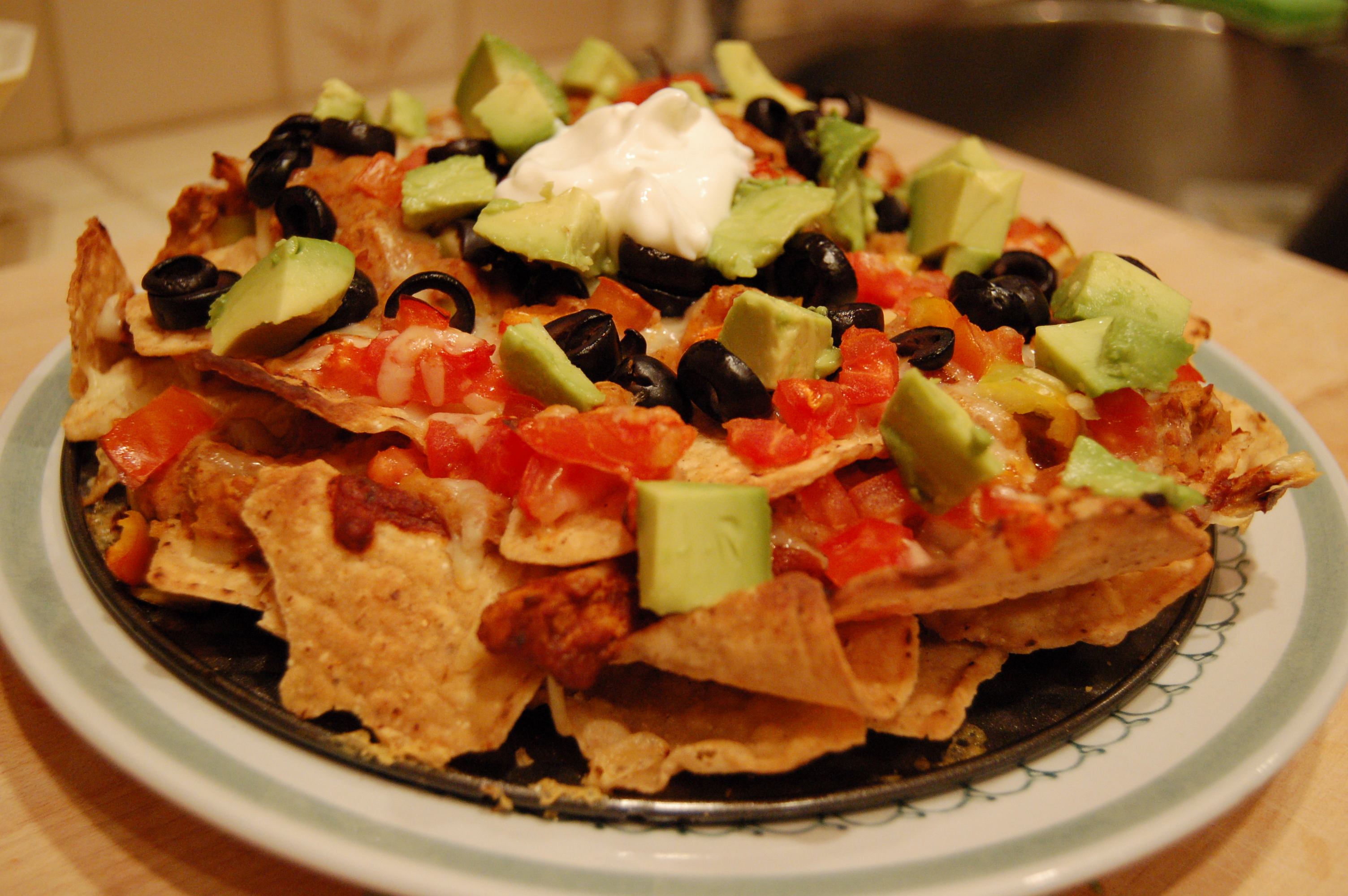 Yes! Nachos for Dinner! Or, as I call them when I am feeling guilty ...
